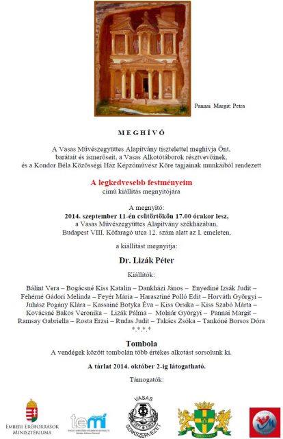 14.09.11. A Vasas Alkotótábor és Kondor Béla Közösségi ház közös kiállítása