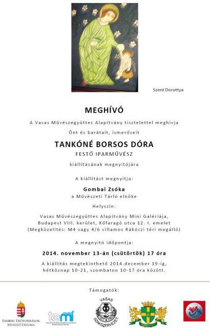 Tankóné Borsos Dóra kiállítása